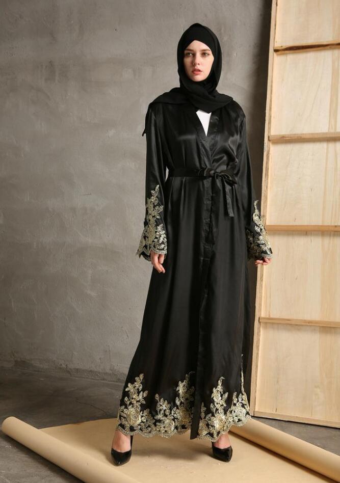 2017 mode emboridery dentelle robes musulmans musulmane turque abaya musulman robe robes arabe. Black Bedroom Furniture Sets. Home Design Ideas