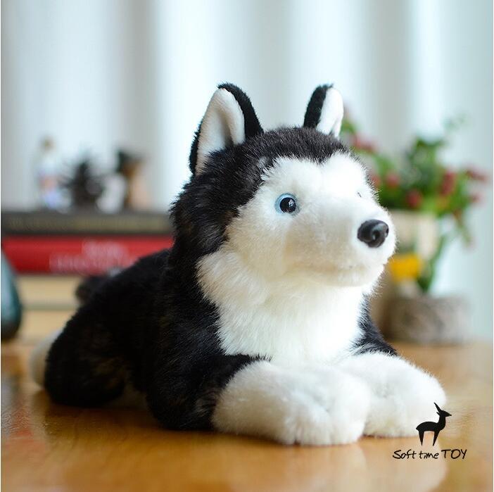 Simulation Stuffed Animals Plush Toys Alaskan Malamute Dog Doll