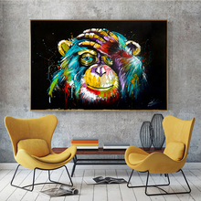 Watercolor Monkey Animal Abstract Canvas Art Nordic Painting Posters and Prints Scandinavian Wall Picture for Living Room Decor