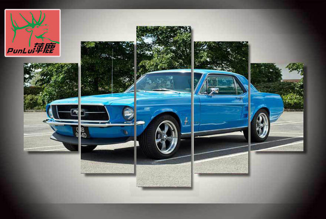 Hd Printed Mustang Muscle Car Painting On Canvas Room Decoration