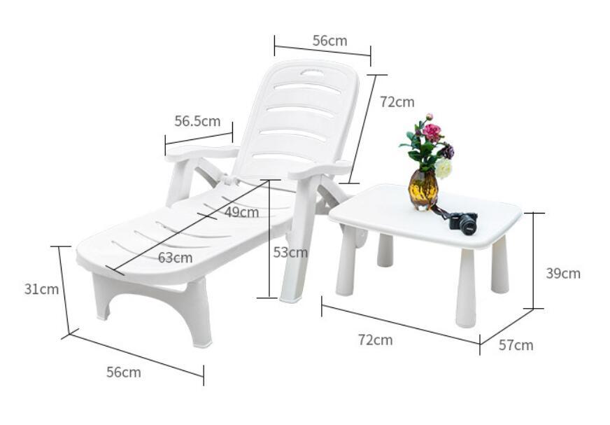 Sun Lounger Folding Portable