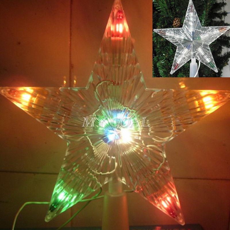 343c915680c Nuevo 10 LED interior exterior árbol de navidad luces de la estrella de la  lámpara de navidad decoración de la lámpara en Árbol Toppers de Hogar y  Jardín en ...