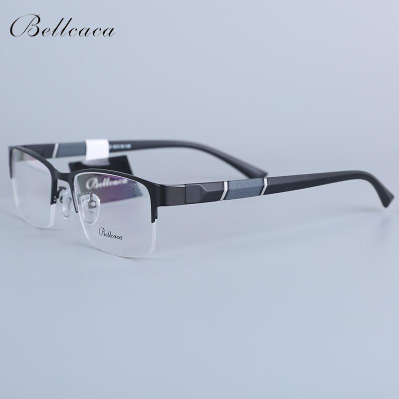 Bellcaca Spectacle Frame Men Eyeglasses Nerd Computer Optical Prescription Myopia Clear Lens Glasses Frame For Male Eyewear 8850