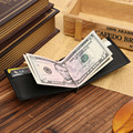 2016 New Men's Genuine Leather Money Clip High Quality Stainless Steel Money Clip Ultra-Thin For Credit Card Money Cash Clip