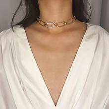 Simple Square Necklace Retro Minimalist Item Sweater Chain Personality Geometric Hollow