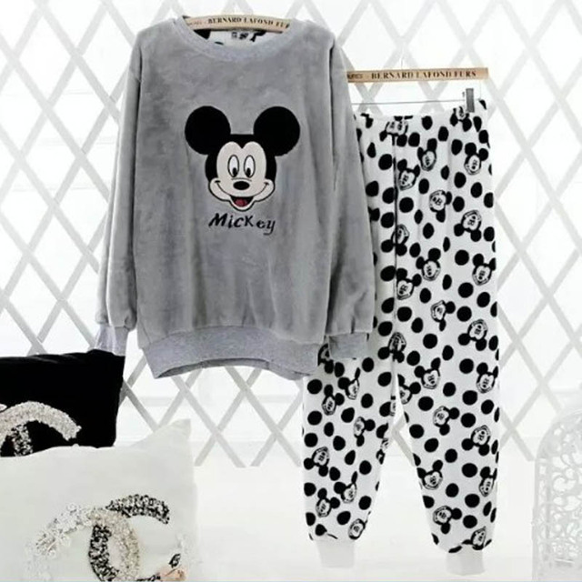 2XL Flannel Winter Pajamas For Women Pijama Mujer Primark Pigiama Donna Pyjamas Women Winter Women Pajama Sets Pijama Feminino
