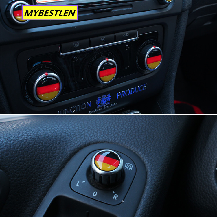 Excellent New button emblem car sticker case for VW Volkswagen golf 6 golf 7 VW polo CC accessories car styling-in Car Stickers from Automobiles & Motorcycles