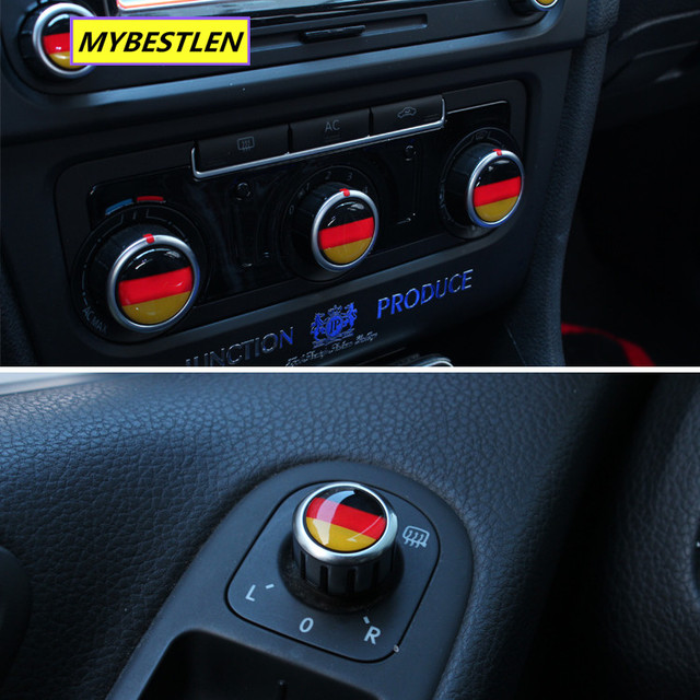 Excellent New button emblem car sticker case for VW Volkswagen golf 6 golf 7 VW polo CC accessories car styling