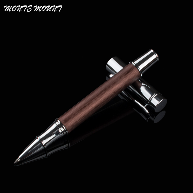 high quality MONTE MOUNT Business pen luxury school Office Stationery roller pen promotional metal Roller Ball Pen Refill black new arrival ballpoint pen and bag metal school office supplies roller ball pens high quality business gift 003