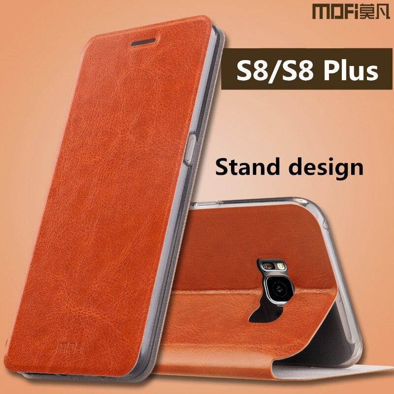 Pour Samsung s8 cas Samsung galaxy s8 plus la couverture en cuir flip de silicium cas MOFi galaxy s8 cas pour Samsung s8 plus cas couverture