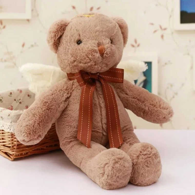 Casal Urso de Pelúcia boneca de brinquedo de pelúcia boneca do anjo do presente das crianças confissão pequeno urso pardo