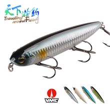 TAF Pencil Fishing Lure 125mm 27.8g Plastic Hard Bait VMC Hook Isca Artificial Top Water Quality Carp Wobblers