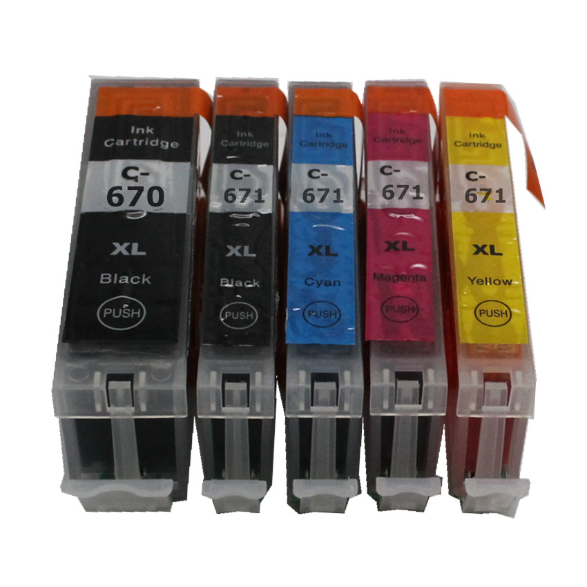 PGI670 CLI671 PGI-670 BK CLI-671 670 671 compatible ink cartridge full ink for canon PIXMA MG5760 MG6860 TS6060 TS5060 printer цена