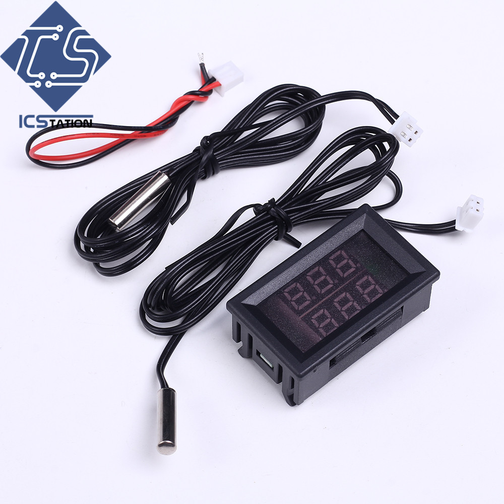 DC 4-28V Red Double Digital Display Thermoeter Thermostat Temperature Controller Humidity Sensor with Display Screen digital indoor air quality carbon dioxide meter temperature rh humidity twa stel display 99 points made in taiwan co2 monitor