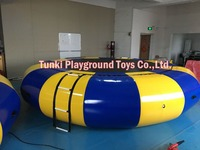 5 meters inflatable water sports trampoline with ladder