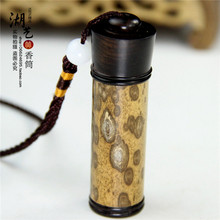 Selection of merlot bamboo diameter 1.5 cm large sweet bursa tobacco powder tube snuff bottle by handwork
