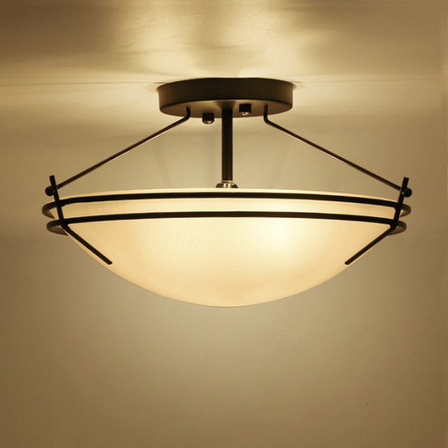 Industrial Retro DIY Metal Ceiling Lamp Light Creative Vintage Glass Shade Hanging  Lights Living Room Bedroom Part 43