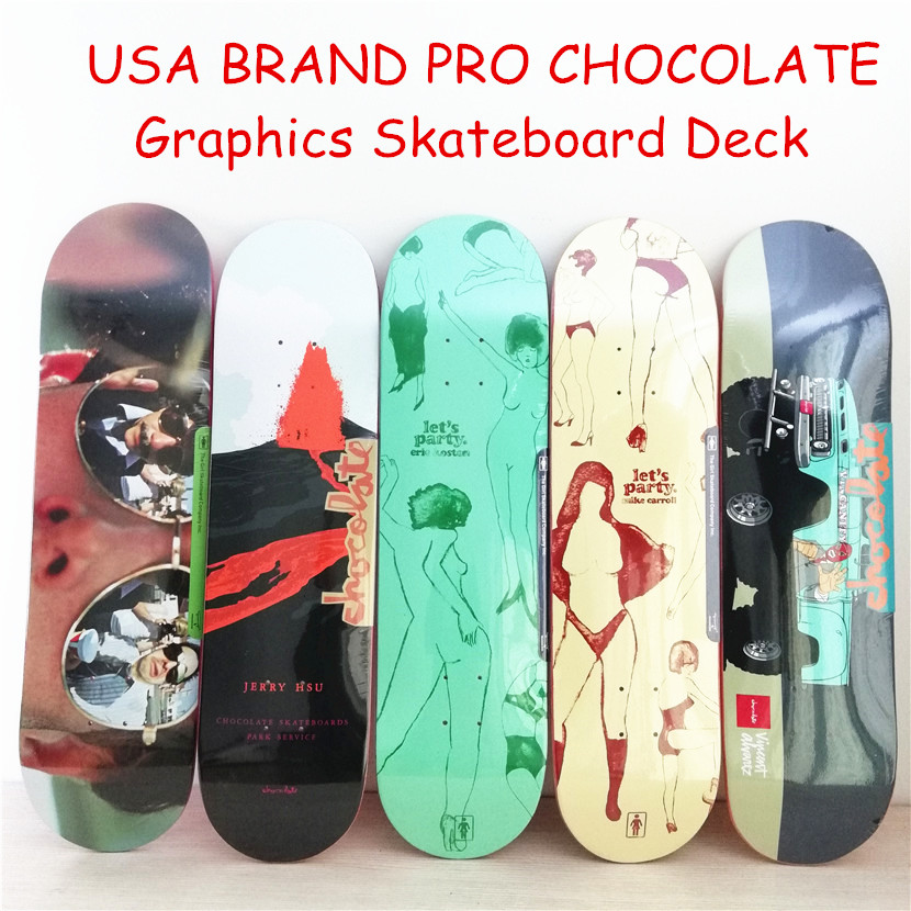 USA BRAND PRO CHOCOLATE Graphics Skateboard Deck Canadian Maple Skateboard Deck 8