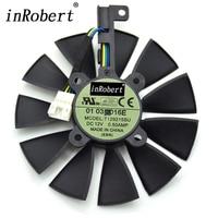 Everflow 87MM T129215SU 4Pin Cooling Fan For GTX 980 Ti R9 390X 390 GTX 1050 1060
