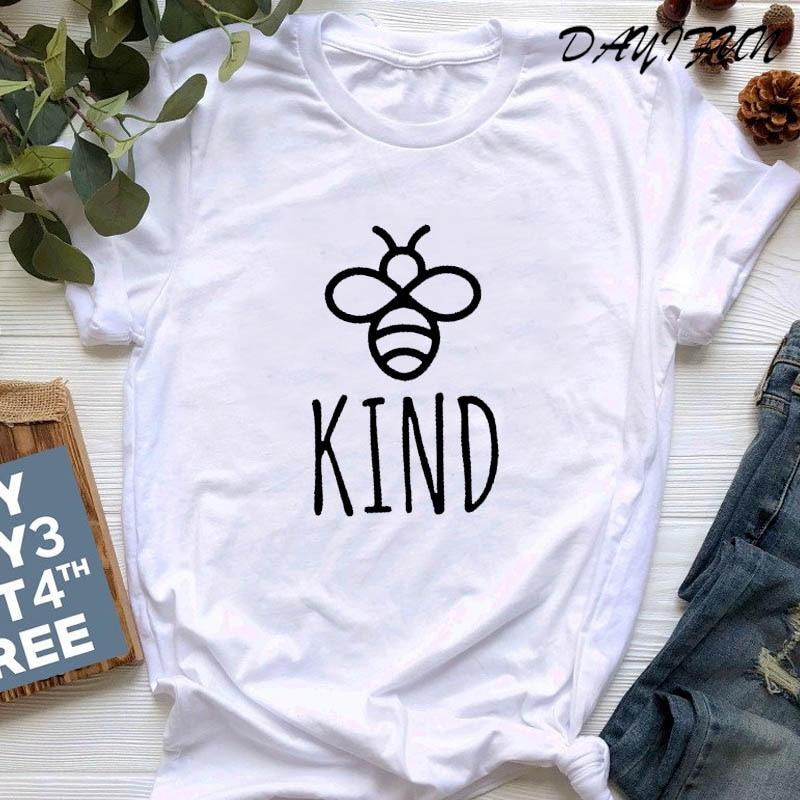 DAYIFUN Werden Art Graphice T Shirt Frauen Baumwolle Übergroßen T-shirt Sommer Mode Bienen Drucken Top Harajuku T-shirt Unisex T T129
