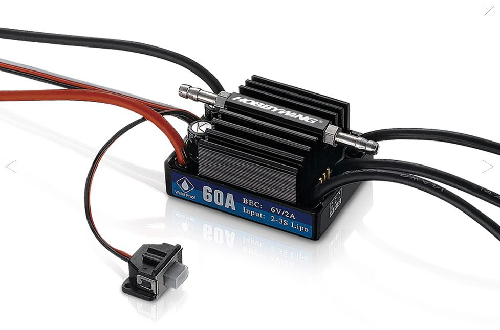 HobbyWing SeaKing 60A V3 2 3S Electronic Speed Controller Waterproof Brushless ESC for font b RC