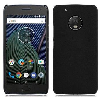 Fundas de teléfono Ultra delgado duro engomado mate funda para Motorola MOTO G5 Plus 5,2 ''funda para teléfono móvil nuevo en Stock + seguimiento