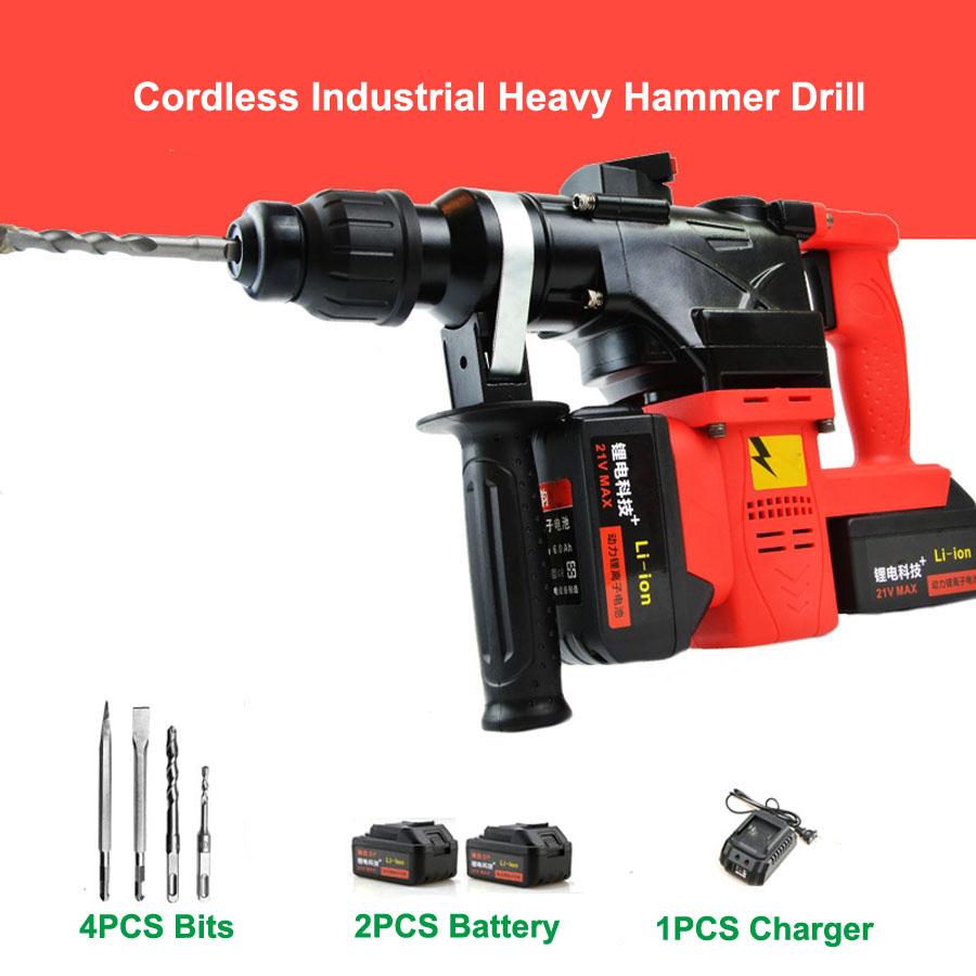 HTB1NsoAaUUIL1JjSZFrq6z3xFXa1 - 15000 25000mAh Heavy Industrial Wall Hammer Cordless Drill Rechargeable Samsung Lithium Battery Electric Hammer Impact Drill