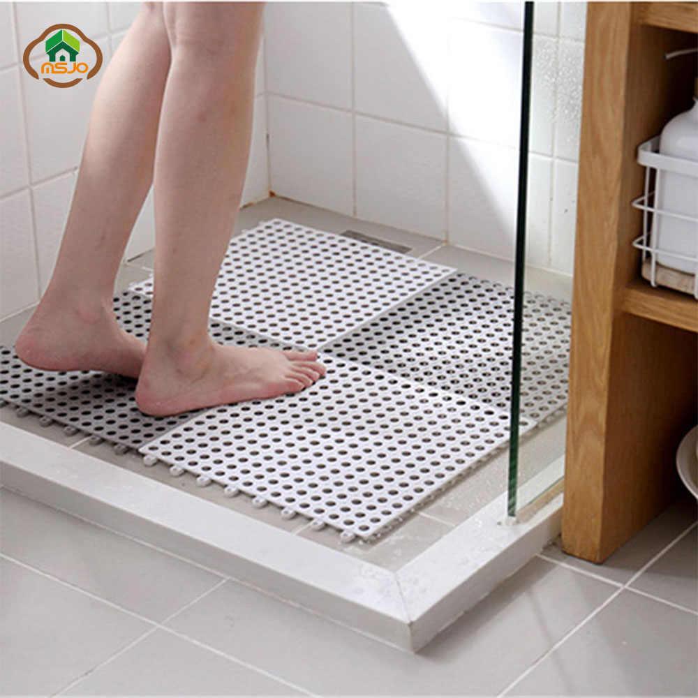 msjo tapis de bain antiderapant pour enfants bleu pvc carre baignoire ensemble de salle de bains toilettes cuisine massage au sol douche