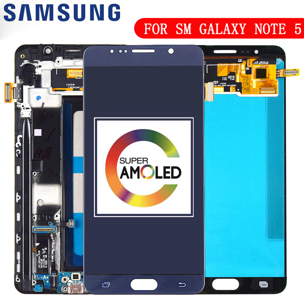 5.7'' OLED LCD for SAMSUNG Galaxy Note 5 N920F Display LCD Touch Screen for SAMSUNG Note 5 Note5 N920A N9200 SM-N920 N920C