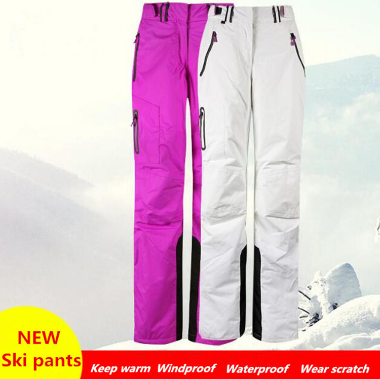 WINTER FEMALE MEN Skiing Pants Windproof Waterproof Snowboarding Pants Ice Sport Camping Climbing Hiking Outdoor Pant 11 Colors lance hiking winter fleece thermal pants windproof leisure style climbing cycing bike outdoor sport pant men big size cloth