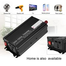 VODOOL Car Inverters 2000W Peak Power Inverter DC 12V/24V to AC 220V Charger Converter Black Continuous output power 500W