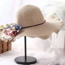 Sun hats for women Summer cap Straw hat visor Beach Outdoor Hat Protection Y703