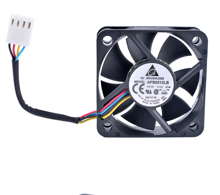 DELTA AFB0512LB 5015 50x50x15mm 50mm fan 12V 0.11A Double ball bearing 4 wire 4pin mute cooling fan