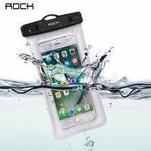 Rock тренажерный зал талии мешок водонепроницаемый мобильный телефон сумки универсальный телефон case ясно чехол для iphone 7 7 plus 6 6 plus для samsung xiaomi