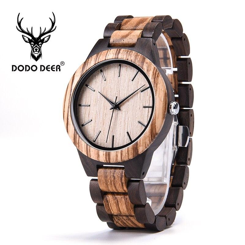 DODO cerf relogio masculino montre en bois mouvement à Quartz luxe bois montres OEM Logo robe montre hommes livraison directe A08-3