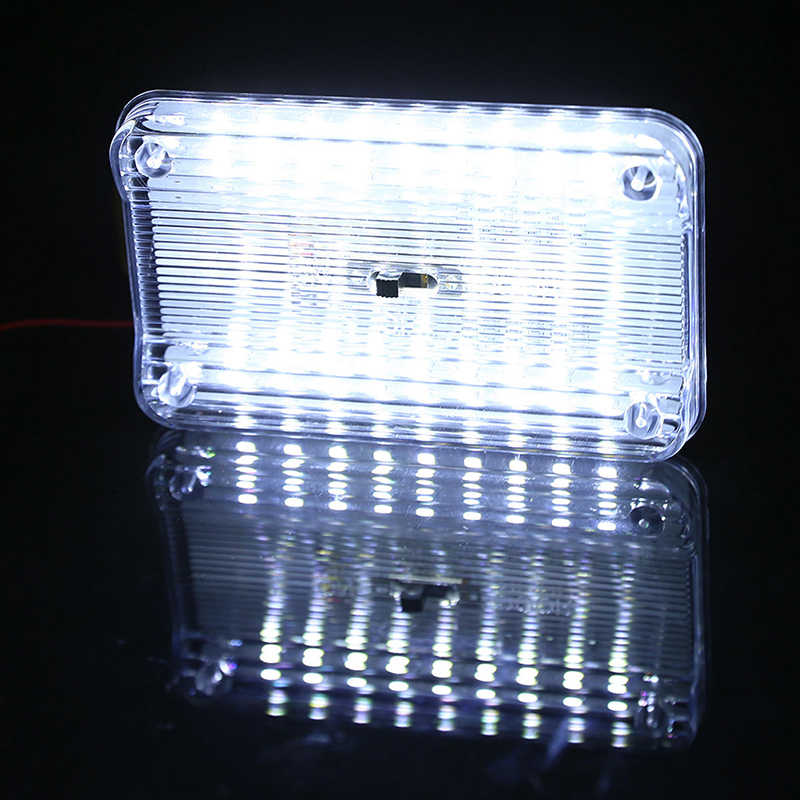 115 x 72 x 15mm 36 SMD Auto Car Dome LED Light Ceiling Interior Rectangular - White Ceiling Lamp for 12V Cars
