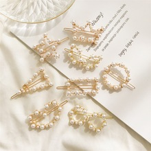 hair clips for women korean accessories crown star triangle heart clip barrettes pearl pin hairclip
