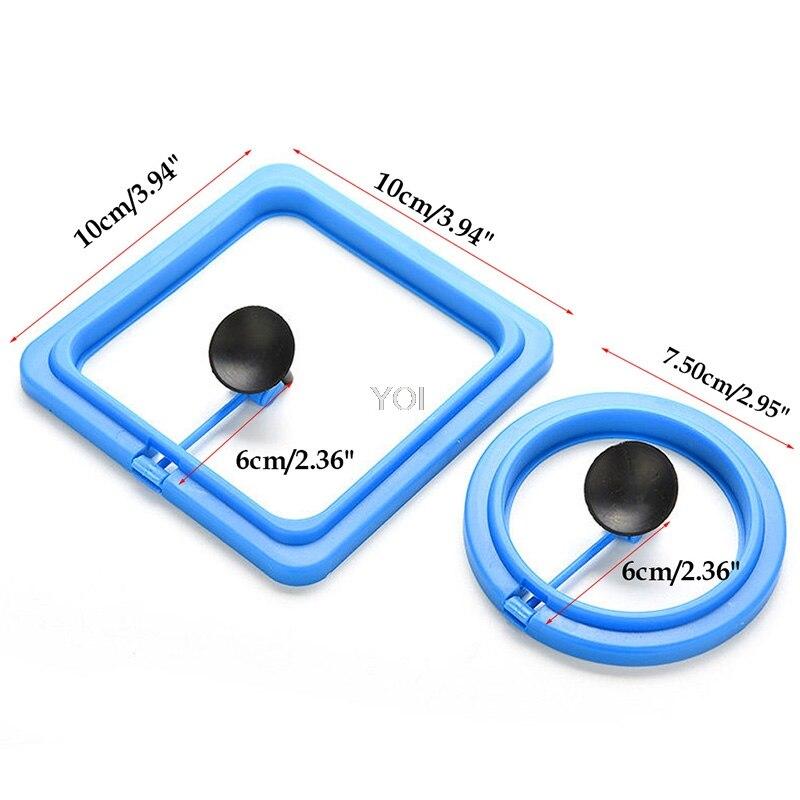 Anel de alimentação estação de tanque de peixes do aquário alimentador de comida flutuante tary quadrado/círculo