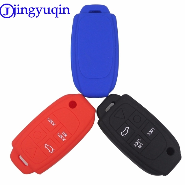 jingyuqin 3 4 5 buttons remote folding flip key fob case coverjingyuqin 3 4 5 buttons remote folding flip key fob case cover silicone for volvo s80 s60 v70 xc70 xc90 d05 car styling