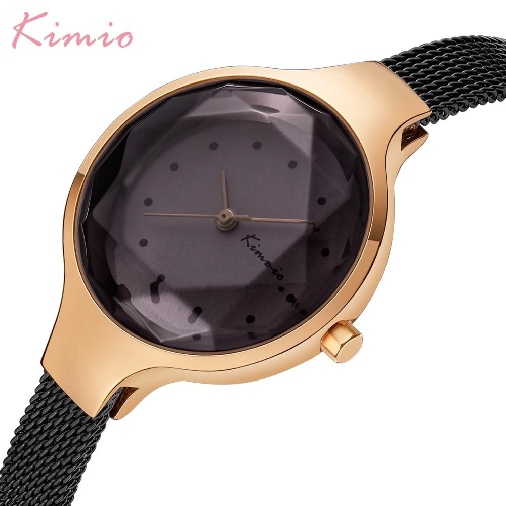 Kimio Simple Fashion Armband Dames Horloges Roestvrij Staal Mesh Riem - Dameshorloges - Foto 2