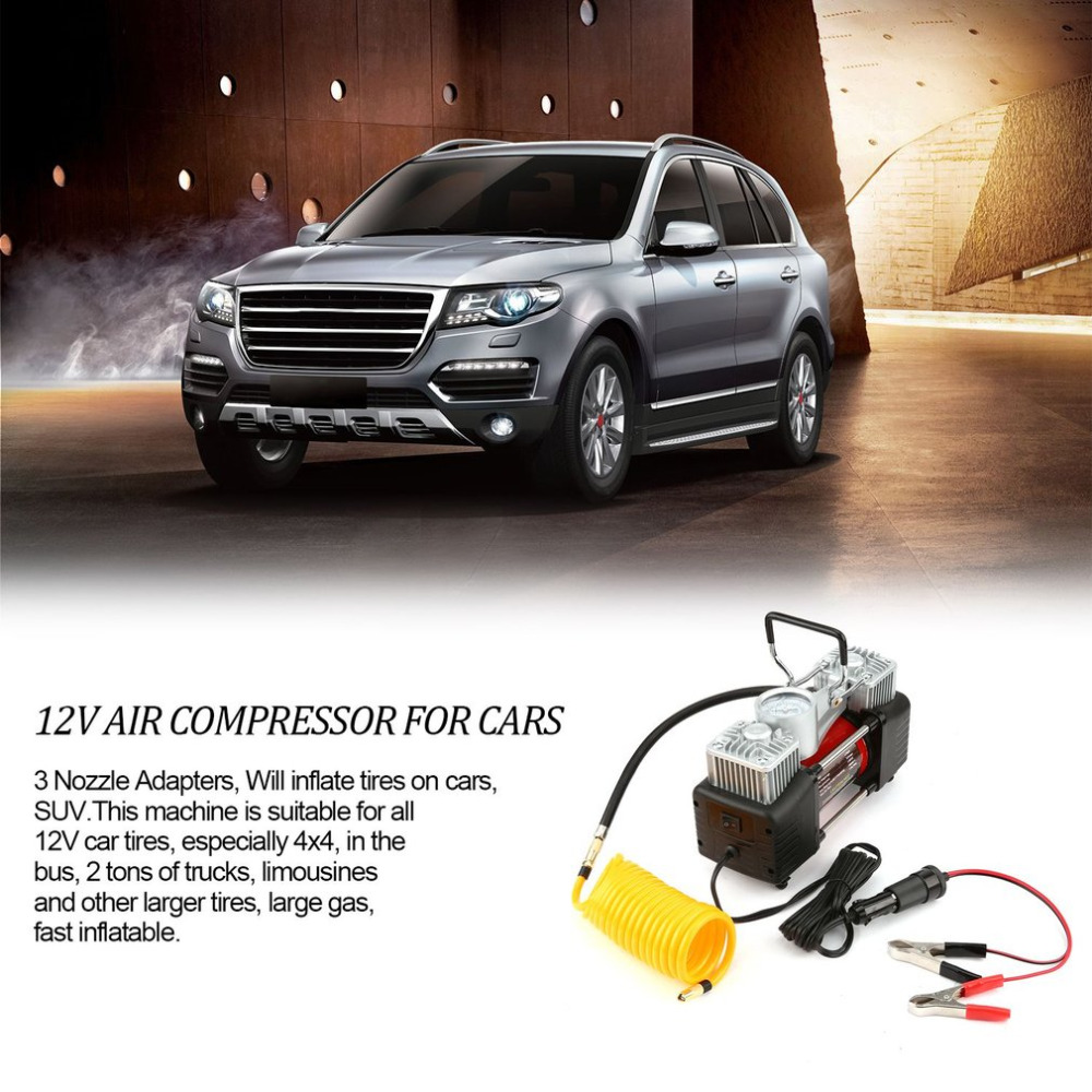 Atv,rv,boat & Other Vehicle Official Website 12v 150psi Portable Emergency Heavy Duty 2 Cylinder Car Air Compressor Tire Inflator Pump Universal For Car Trucks Bicycle Selling Well All Over The World