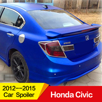 Use for Honda CIVIC spoiler 2012 2015year ABS material car rear wing with colour decoration dedicated Accessorie car refitt