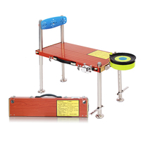 Alumínio cadeira de pesca Nova pesca forte plataforma de multi-função de espessura plataforma de bolso portátil dobrável de pesca