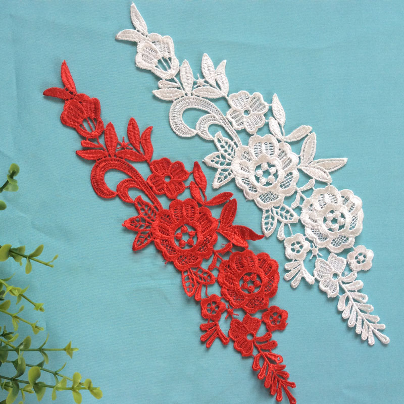 10Pieces Venise Lace Appliques For Wedding Dresses Lace Accessories Material Embroidered Lace Trim Multiple Colors Available in Lace from Home Garden