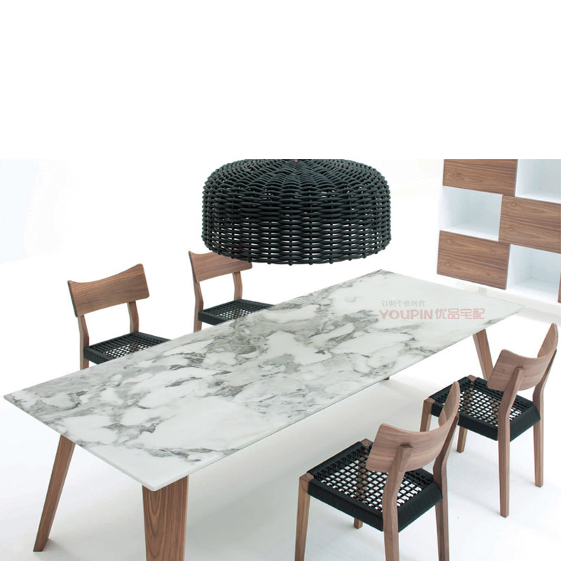 Superb Direct 6 Seater Modern Minimalist Scandinavian Style All Solid Wood Frame Marble  Dining Table Sets New Creative Furniture In Nail Tables From Furniture On  ...