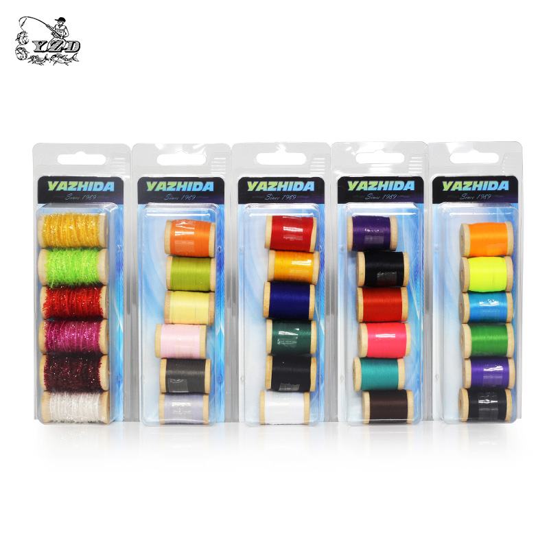 Promo Fly Tying Thread Materials  6 Color 0.3mm*150m Fly Fishing Material and Accessories Lure Making for Wet Dry Nymph Flies mnft 10 colors select 0 3mm 30m copper wire fly fishing lure bait making material midge larve nymph fly tying material