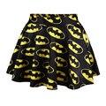 2016 Nova Moda de Rua Estilo Batman Galaxy Impressão Digital Saias S M L Xl Frete Grátis