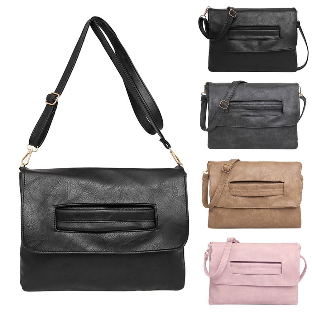 New Mini Woman Messenger bags PU Leather Simple Design Small Square Women Shoulder Crossbody Bags Retro Clutch #LD789