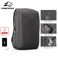 Kingsons travel bags Air Cell Cushioning Bag Laptop Tablet Backpack Male & Female Overnighter Waterproof Anti theft Mochila