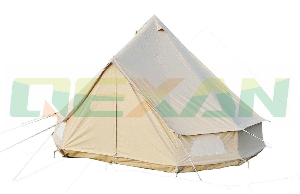 Бесплатная доставка! 5 м холст Белл палатка хлопковые зимние палатки стены развернута для Открытый Отдых